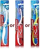 Colgate - Cepillo de dientes suave plegable, colores surtidos, 3...