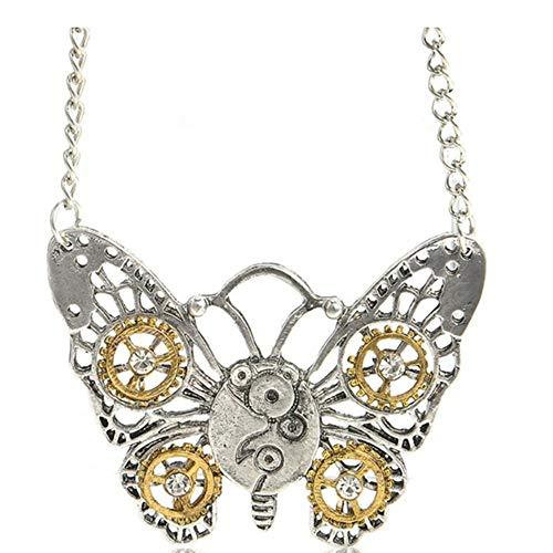 Esperienza di Gioielli Vintage Collana di personalità della Moda Farfalla Gufo Bee Cuore Forma Collana Decorazione Regalo