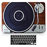 Bizcustom MacBook Pro13 CD-ROM 2008-2012 Vintage Wood Music Player Design Paint Hard Rubberized Case and Black Keyboard Cover for MacBook Pro 13 CD-ROM Model A1278, None Retina