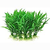 aoory 10 unidades de plantas artificiales para acuario, bonita decoración