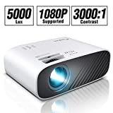ELEPHAS 2020 Mini Movie Projector, 5000 LUX Full HD 1080P Video Projector, with 50, 000 Hours LED...