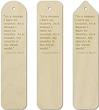 3 x Women Quote by Virginia Woolf Birch Bookmarks (BK00000970)