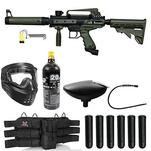 Maddog Tippmann Cronus Tactical Silver Paintball Gun Package - Black/Olive