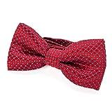 DonDon pajarita noble para niños chico - combinada y ajustable 9x 4,5 cm - de color rojo - brillada...