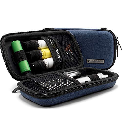 VapeHero® Borca astuccio sigaretta elettronica custodia vapore per liquidi e accessori   inserto extra per batteria 18650 e liquido   antiurto