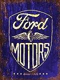 Lorenzo Ford Motors Vintage Metall-Blechschild Wand Eisen