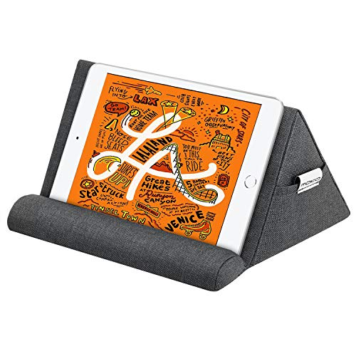 MoKo Tablet Pillow Stand, Pillow Holder for iPad Tablet up to 11', Pillow Lap Stand for eReaders, Fit iPad Air 4 10.9'/Air 3, iPad 10.2 2020, iPad Pro 11/10.5/9.7, Mini 5, Galaxy Tab S6/S7, Space Gray