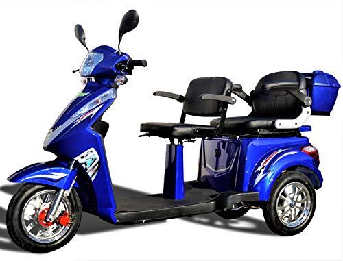 Elektromobil ECO Engel 503 Blau mit Li-Io Akku, 1000 Watt, 25 km/h, Senioren-Scooter mit Straßenzulassung E-Scooter E-Roller