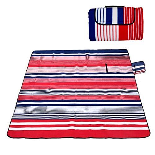 JZK 200x200 cm, draagbaar extra groot picknickdeken stranddeken met waterdichte rug, tapijt mat grondzeil voor camping tent