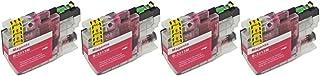 RudyTwos 4 x ersättare för Brother LC3213M bläckenhet Magenta kompatibel med DCP-J772DW, DCP-J774DW, MFC-J890DW, MFC-J895DW