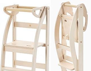 La Taue - Torre de aprendizaje plegable. ambién se puede guardar en espacios pequeños o transformar en un taburete o una silla.