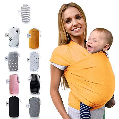 Fastique Kids® Écharpe de portage élastique pour bébé prématuré et nouveau-né avec instructions (français non garanti)