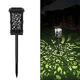 【1-Piezas】 Lámparas Solares para Jardín IP65-impermeable Seguridad Luces Exterior Jardin Lámpara Solar Jardín Luz Diseño Plegable Luz Solar de Césped para Decorativa Camino Jardín Terraza Céspe