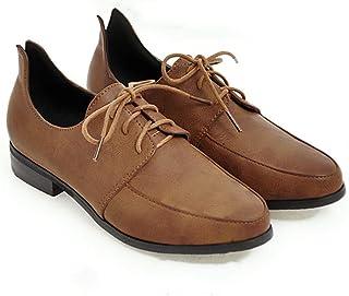[THLD] オックスフォードシューズ ローヒール おじ靴 レディース ラウンドトゥ レースアップ 美脚 スムース 黒 ローカット ぺたんこ 大きいサイズ メンズタイプ ローファー 2.5cm 靴 レディース 歩きやすい 25.0cm 26.5cm グリーン