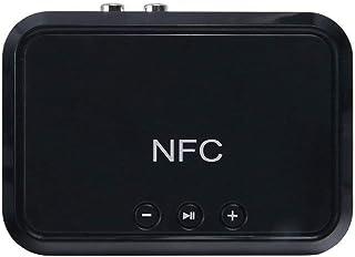 مستقبل بلوتوث NFC للكمبيوتر المكتبي ومحول راديو هاي فاي محول صوت وصوت لمكبر صوت تلفزيون السيارة للشبكة (اللون : أسود)