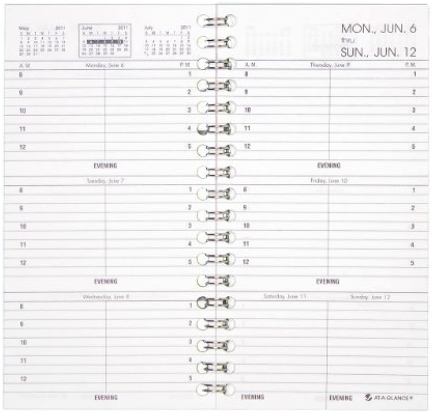 AT-A-GLANCE 7090410 Weekly Appointment Book Refill Hourly Ruled, 3 1 4 x 6 1 4, 2016 by At-A-Glance B018RFGE04 | Hohe Qualität Und Geringen Overhead