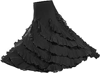 Vestido de Flamenca Ropa de Baile Accesorios de Mujer Falda de Tango