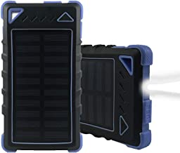 Solar Charger 20000mAh HaloAura Solar Power Bank with Flashlight for Camping, Outdoor Activities, Portable Solar Charger Dual USB for Smartphones iPhone Android