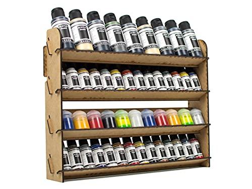 PROSCALE Soporte organizador pinturas miniaturas modelismo. Kit mesa de trabajo vallejo bote pinturas pinceles vallejo acrilico miniaturas warhammer modelismo maquetas (Universal)