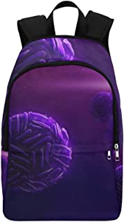 Dramatic Microscopic View Zika Virus Casual Daypack Travel Bag College School Backpack for Mens and Women