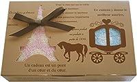 タオルの萩原 キャリッジギフト フェイスタオル1枚+ウォッシュタオル1枚 ギフトボックス入り プチギフト 粗品 プレゼント carrage-gift (キュートセット)