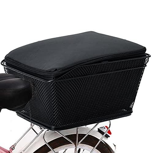 SXCXYG Alforjas Bicicleta Bicicleta Trasera Cesta Grande Capacidad de Metal Cesta de Bicicleta Bolsa de Bicicleta Funda Impermeable Impermeable Maleta para Bicicleta (Color : 2pcs)