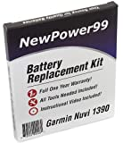ewPower99 Battery Replacement Kit with Battery, Video Instructions and Tools for Garmin Nuvi 1390