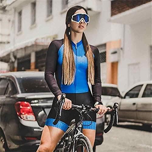 Triathlon Damen Outdoor Sportswear Cycling-Anzug langärmelig eng anliegender Rad-Anzug-Overall (Color : 36, Size : XX-Large)