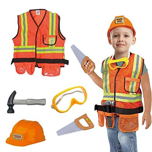 Ritapreaty Children's Engineering kostuum, bouwvakker Cosplay kostuum, kleding Uniform Set voor kind doen alsof rol spelen