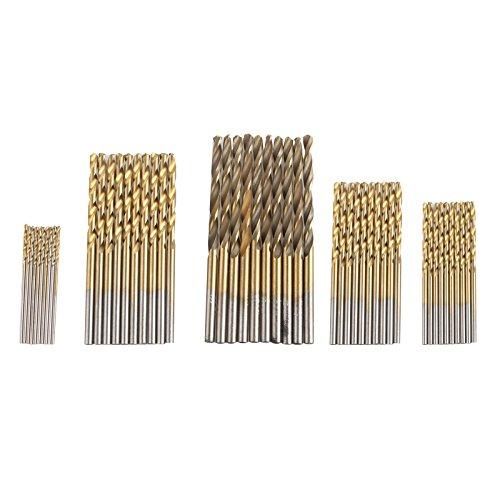 HALJIA Juego de 50 brocas para carpintería de 1 a 3 mm de a