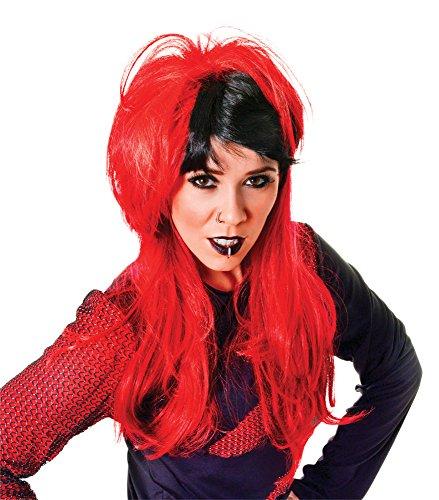 Bristol Novelty Bw792 Rouge/Noir pour Femme Punk Perruque