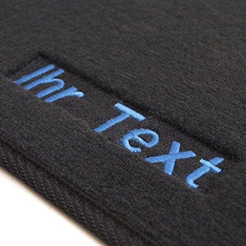 kh Teile Fußmatten Passend für 1K / 5K Velour, Bestickt Text, Fahrer + Beifahrermatte, Blau