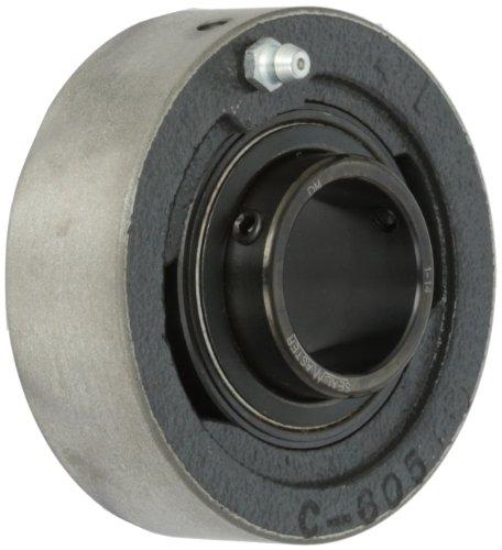 Sealmaster SC-20R Ball Bearing Cartridge Unit, Set Screw Locking Collar, Felt Seals, Cast Iron Housing, Inch, 1-1/4