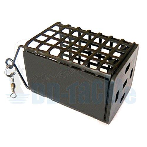 DD-Tackle Karpfen Futterkorb Eckig Feederkorb Method Feeder + Wechselboden 10g - 100g Blei (Gewicht 30g)