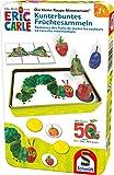 Schmidt Spiele 51237 kleine Raupe Nimmersatt, Kunterbuntes Früchtesammeln, Reisespiel in der Metalldose