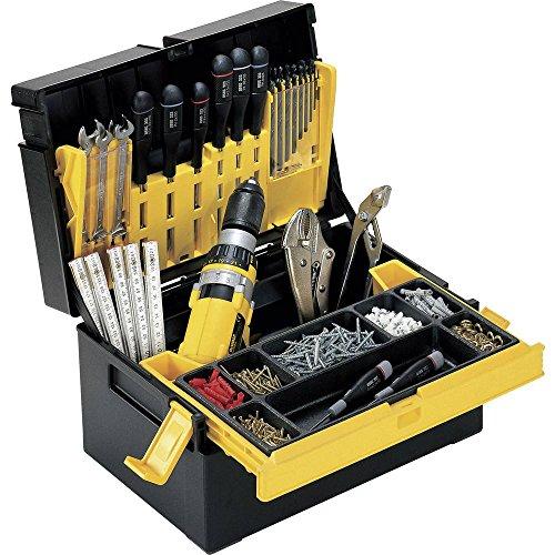 Alutec 56550 Werkzeugkasten unbestückt Kunststoff Schwarz, Gelb