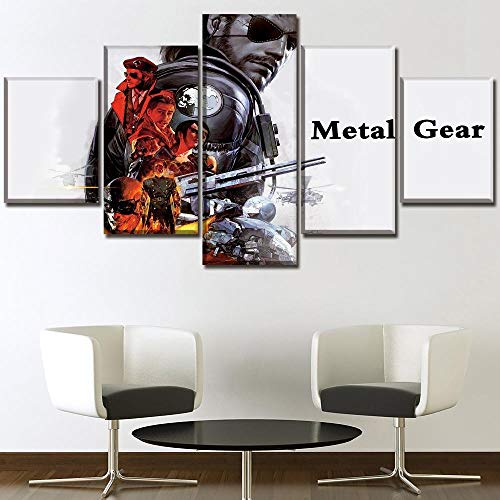 ZhuHZ Cuadro sobre Lienzo Canvas HD Prints Posters Wall Art Pictures 5 Pieces Game Metal Gear Solid V The Phantom Painting Home Decor Modular Framework Impresiones en Lienzo