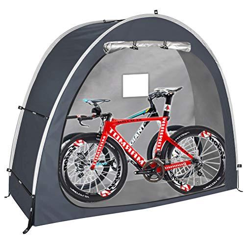 HERAHQ 2021 Neues Fahrradzelt, dauerhafte wetterfeste Fahrradabdeckung, Fahrradaufbewahrung Schutzhülle Zeltschuppen für Garten/Outdoor/Home Shelter,Schwarz