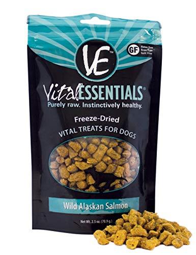Vital Essentials Freeze-Dried Wild Alaskan Salmon Treats for Dogs 2.5 Ounce