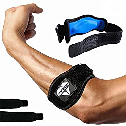 in budget affordable Tennis Elbow Pads for Tendinitis (2 + 2) – Elbow Bandages Great for Tennis and Golfers…
