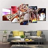 KWzEQ Clown Girl Comic Poster 5 Pinturas de Arte de Pared sobre Lienzo decoración del hogar Sala de Arte,Pintura sin Marco,20x35cmx2, 20x45cmx2, 20x55cmx1