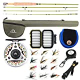 M MAXIMUMCATCH Maxcatch Ultra-Lite Fly Rod for Stream River Panfish/Trout Fishing 1/2/3 Weight and Combo Set Available (7'6'' 3wt 4pcs)