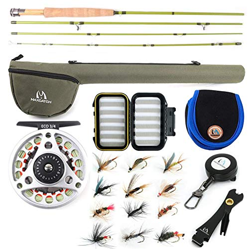 M MAXIMUMCATCH Maxcatch Ultra-Lite Fly Rod for Stream River Panfish/Trout Fishing 1/2/3 Weight and Combo Set Available (Ultra-lite Rod Combo, 6'0'' 2wt 3pcs)