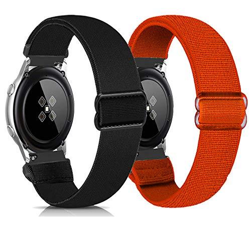Zoholl - Cinturini elastici a sgancio rapido, ricambio per Samsung Galaxy Watch 3 41 mm Galaxy 42 mm Active 40 mm Huawei 2 Gear S2 Classic Sport Ticwatch 2 da uomo (20 mm), 20MM,