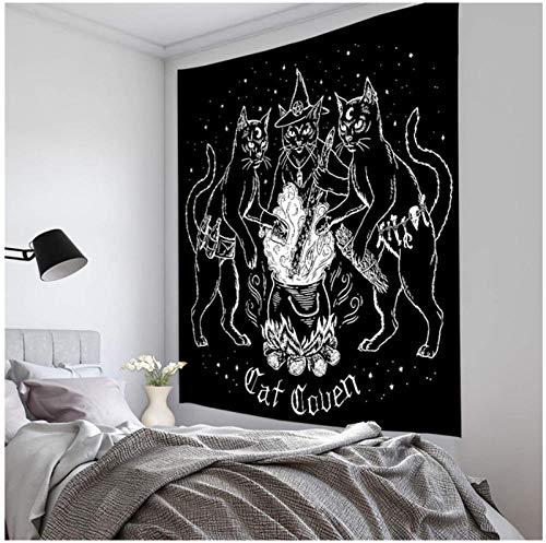 wsydd Tapiz Colgante de Pared Dormitorio Familiar decoración Carta del Tarot Sol y Luna patrón Manta Mandala yd07