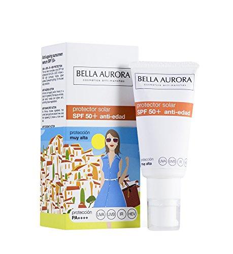 Bella Aurora Crema Protector Solar Facial (SPF 50+, Anti-Edad) - 30 ml.
