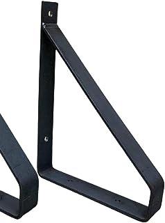 Industriële Plankdrager 20 cm -/ Per stuk /- Staal - Met mat zwarte Coating (Mat zwart)