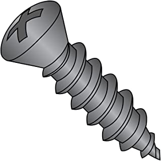 Steel Sheet Metal Screw Pack of 50 Type AB Zinc Plated 82 degrees Oval Head #8-18 Thread Size 2-1//4 Length Phillips Drive