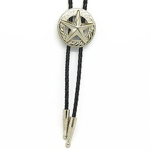 4d7e0517d KeCol Adult Mens Long Star Texas Western Bolo Tie Necktie Necklace