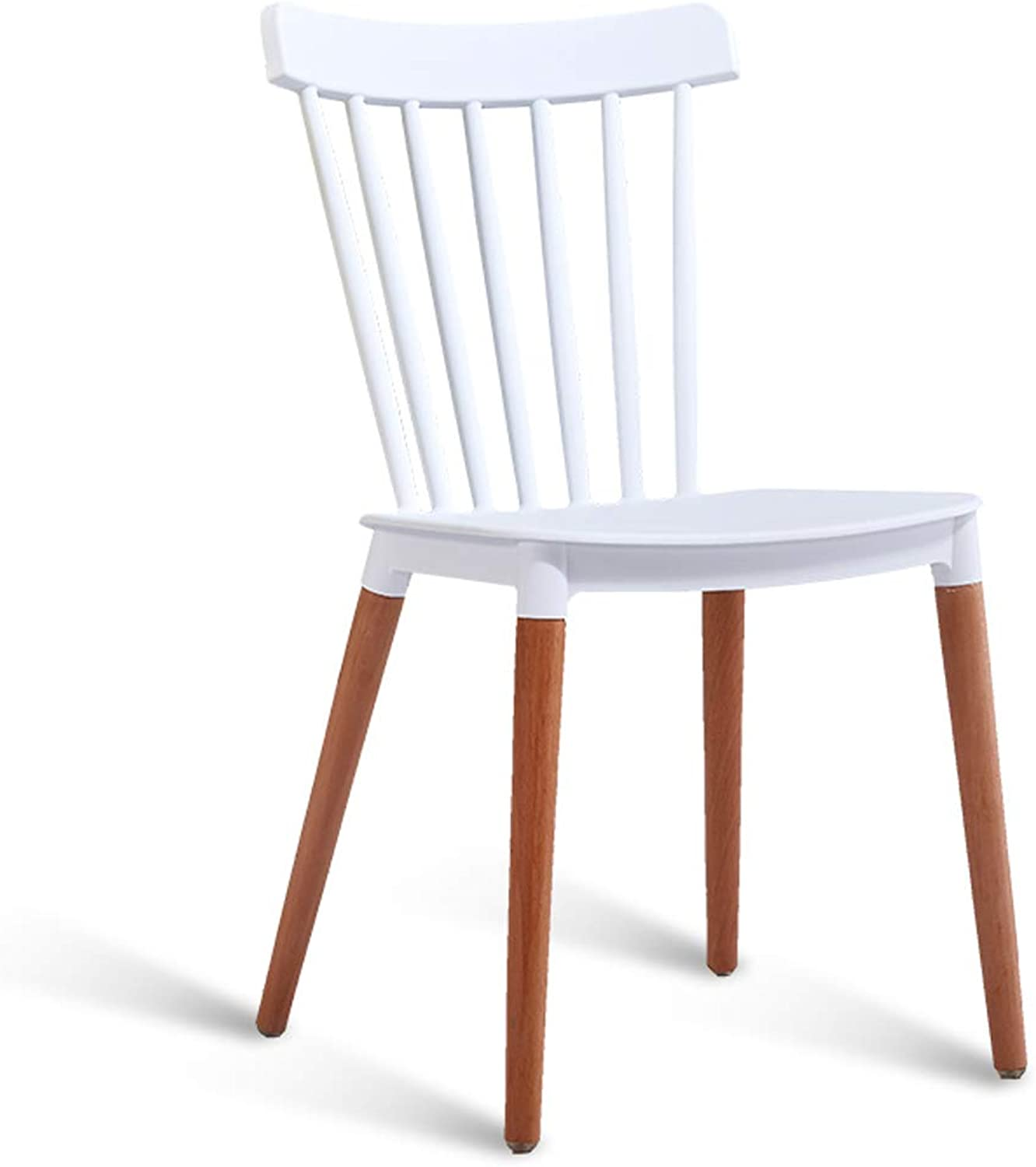 LRW Nordic Minimalist Dining Chair, Home Creative Leisure Backrest Chair, Dining Room Stool Chair, White
